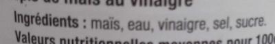 Epis de Maïs - Ingredients - fr