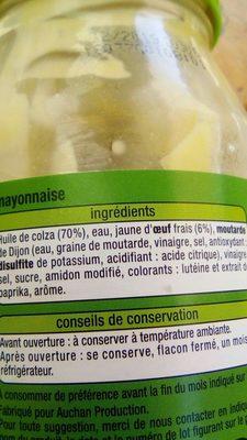 Mayonnaise aux oeufs frais - Ingredienti - fr