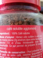 Cafe soluble tradition Aromatise & familial. - Ingrediënten - fr