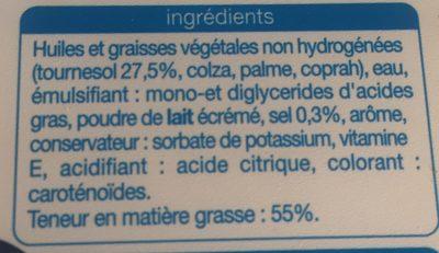 Margarine Tournesol - Ingredients
