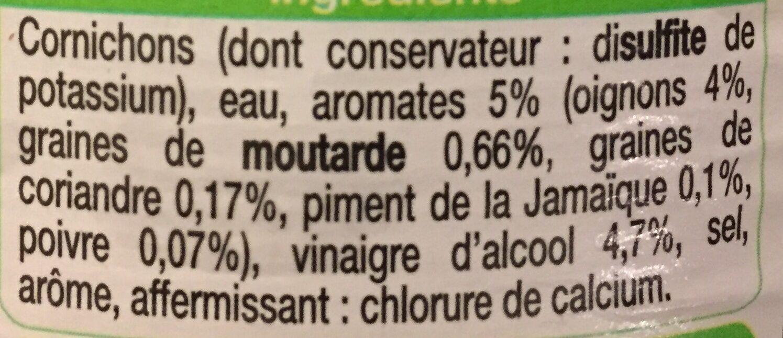 Cornichons très fins croquants - Ingrédients