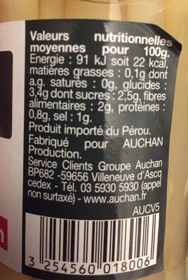 Asperges pic nic - Ingrédients - fr