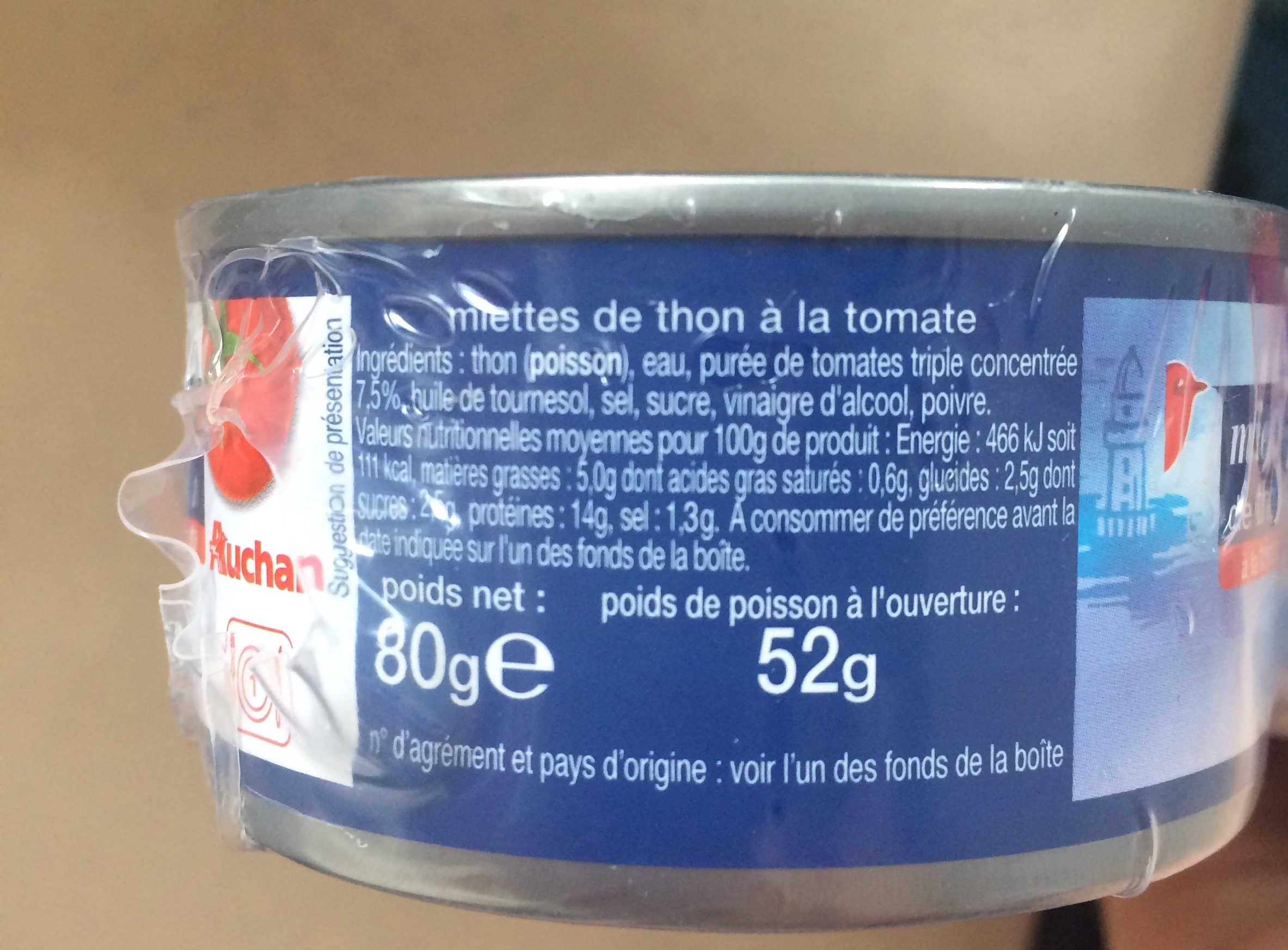 Miettes de thon a la tomate - Ingredienti - fr