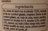 Cannelloni à la sauce italienne (pur bœuf) - Ingrédients - fr