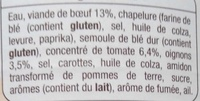 Cannelloni (pur bœuf) - Ingrédients - fr