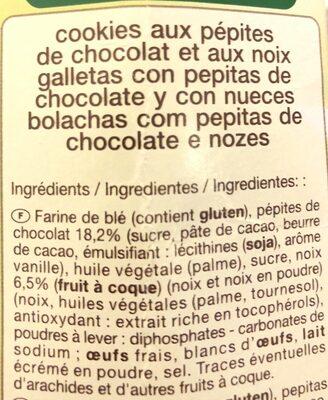 Cookies pepites de chocolat noix - Ingrédients - fr