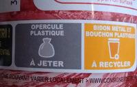 Sirop de grenadine - Instruction de recyclage et/ou informations d'emballage - fr