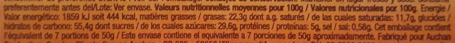 Gaufres liégeoises - Voedingswaarden - fr