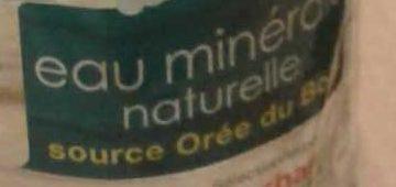 Eau minérale naturelle - Orée du bois - Ingrédients