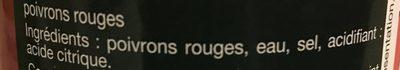 Poivron Rouge Grillé - Ingrediënten
