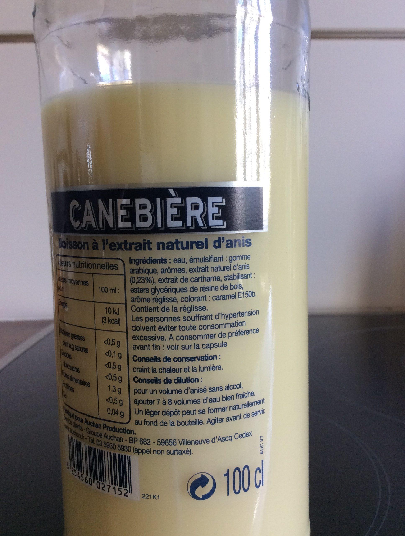 Canebiere - Ingredients - fr