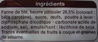 Palets bretons pur beurre - Ingrédients