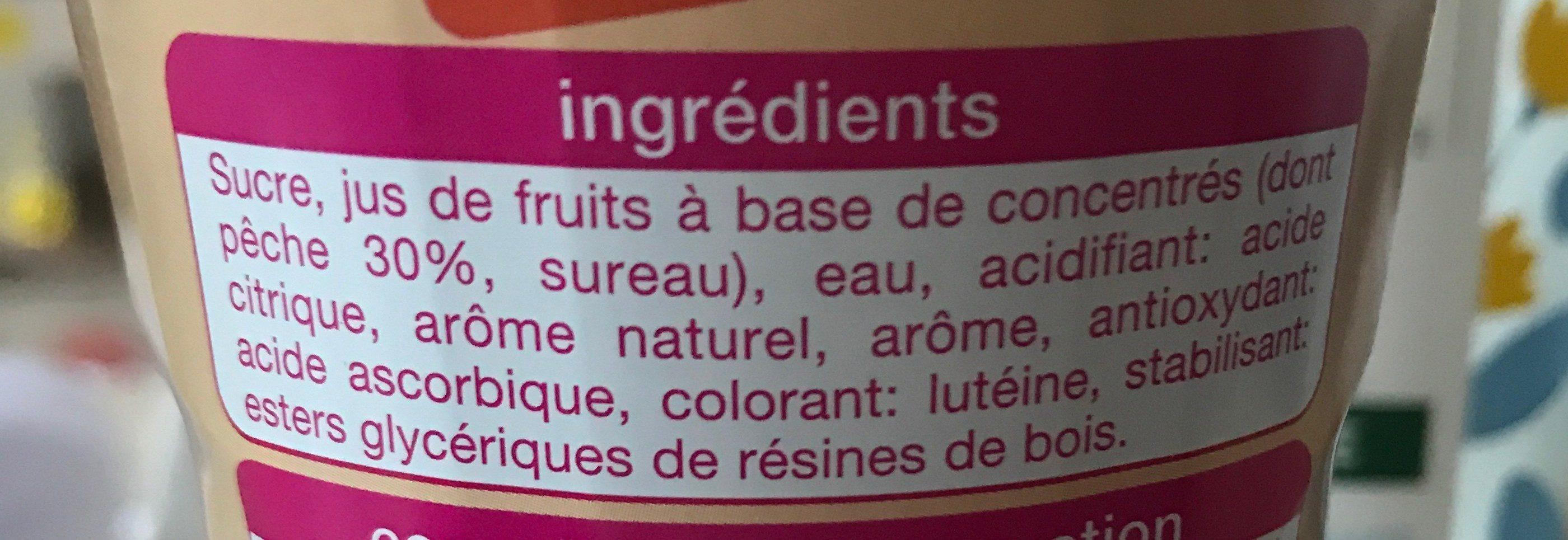 Sirop de pêche - Ingredients - fr