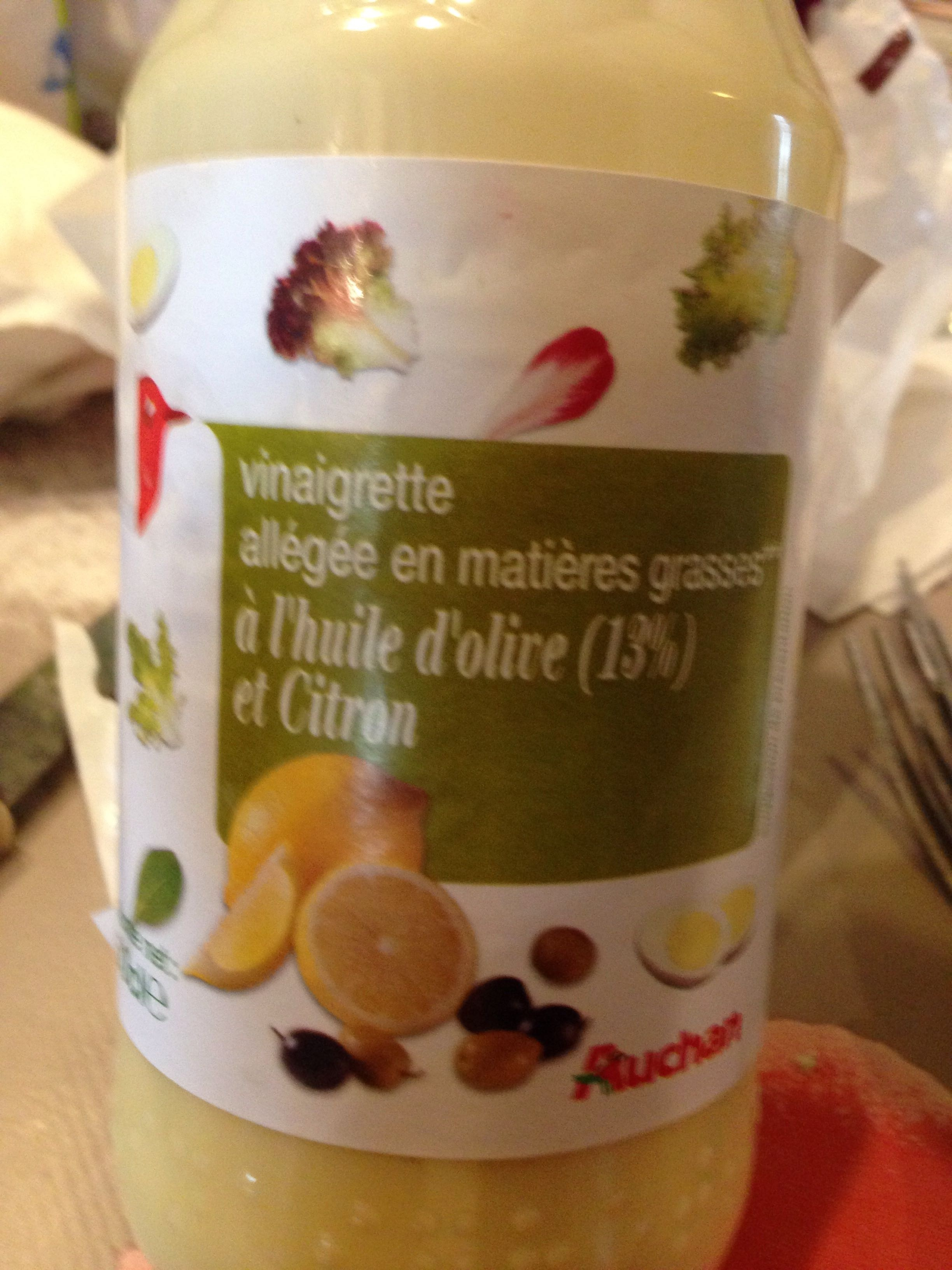 Vinaigrette Allégée en Matières Grasses à l'Huile d'Olive (13%) et Citron - Produit - fr