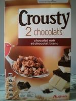 Crousty 2 chocolats - chocolat noir et chocolat blanc - Produit - fr
