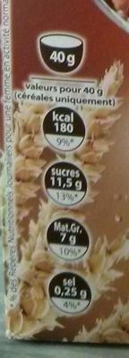 Crousty 2 chocolats - chocolat noir et chocolat blanc - Informations nutritionnelles - fr