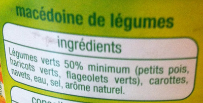 Macédoine de légumes - Ingrédients - fr
