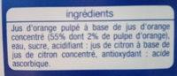 Auchan Nectar D'orange - Ingredients