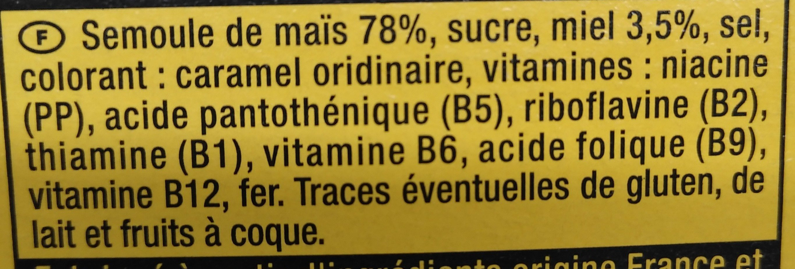 Mielnuts - Ingredients - fr