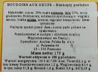 Boudoirs aux Œufs Frais - Składniki - pl