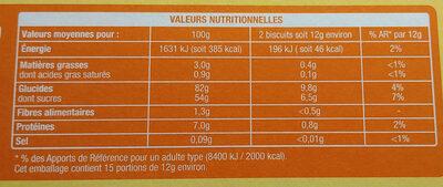 Boudoirs aux Œufs Frais - Wartości odżywcze - pl