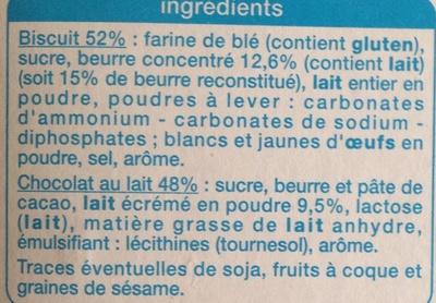 Petit Beurre Tablette Chocolat au Lait - Ingrédients - fr