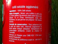 Café soluble Tradition - Ingrédients - fr