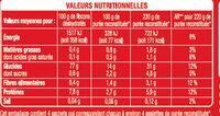 Ma purée nature - Información nutricional - fr