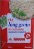 Riz long grain incollable  (cuisson rapide 10 mn) - Product