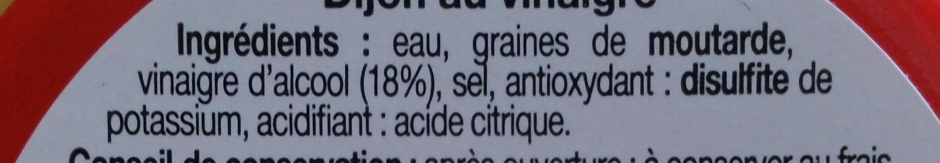 Moutarde de Dijon forte - Ingredients - fr