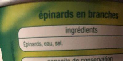 Épinards - Ingrédients