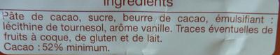 Noir dessert - Ingrédients