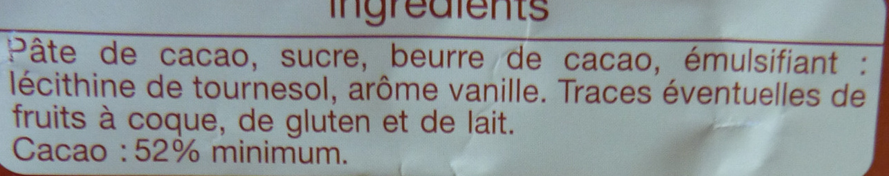 Noir dessert - Ingrédients - fr