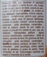 Choucroute garnie au vin blanc - Ingrédients - fr