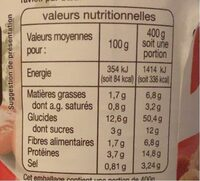 Ravioli pur bœuf - Informations nutritionnelles - fr