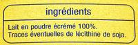 Lait en poudre écrémé - Ingredients