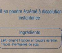 Lait en poudre écrémé - Ingrédients - fr