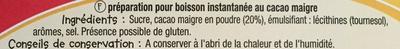 Kao Choc - Ingrédients - fr