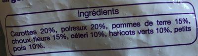 Légumes Potage Auchan - Ingrediënten