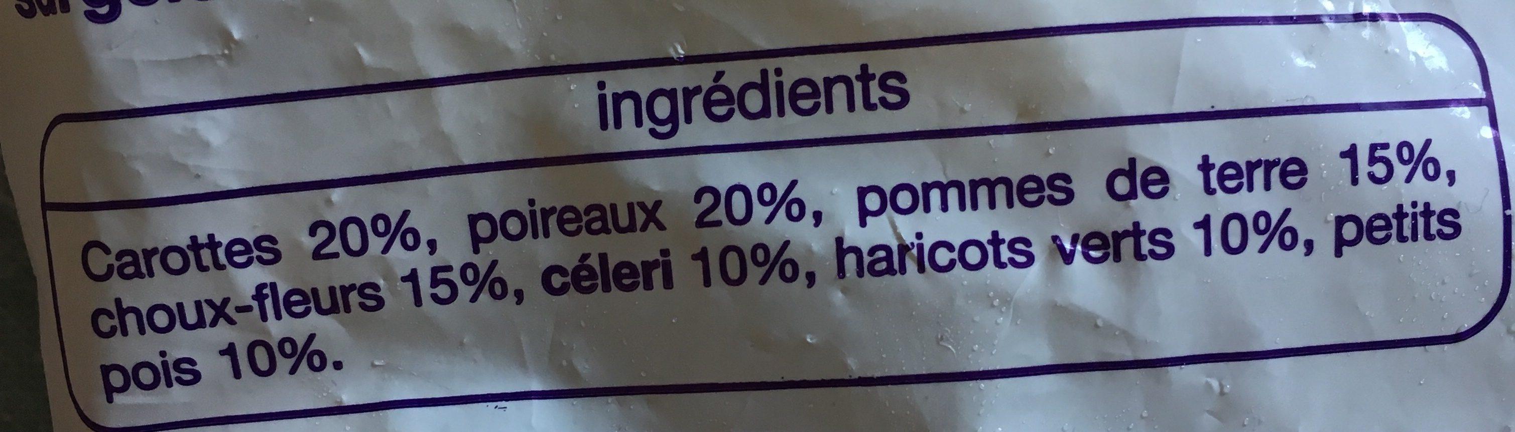 Légumes Potage Auchan - Ingredients