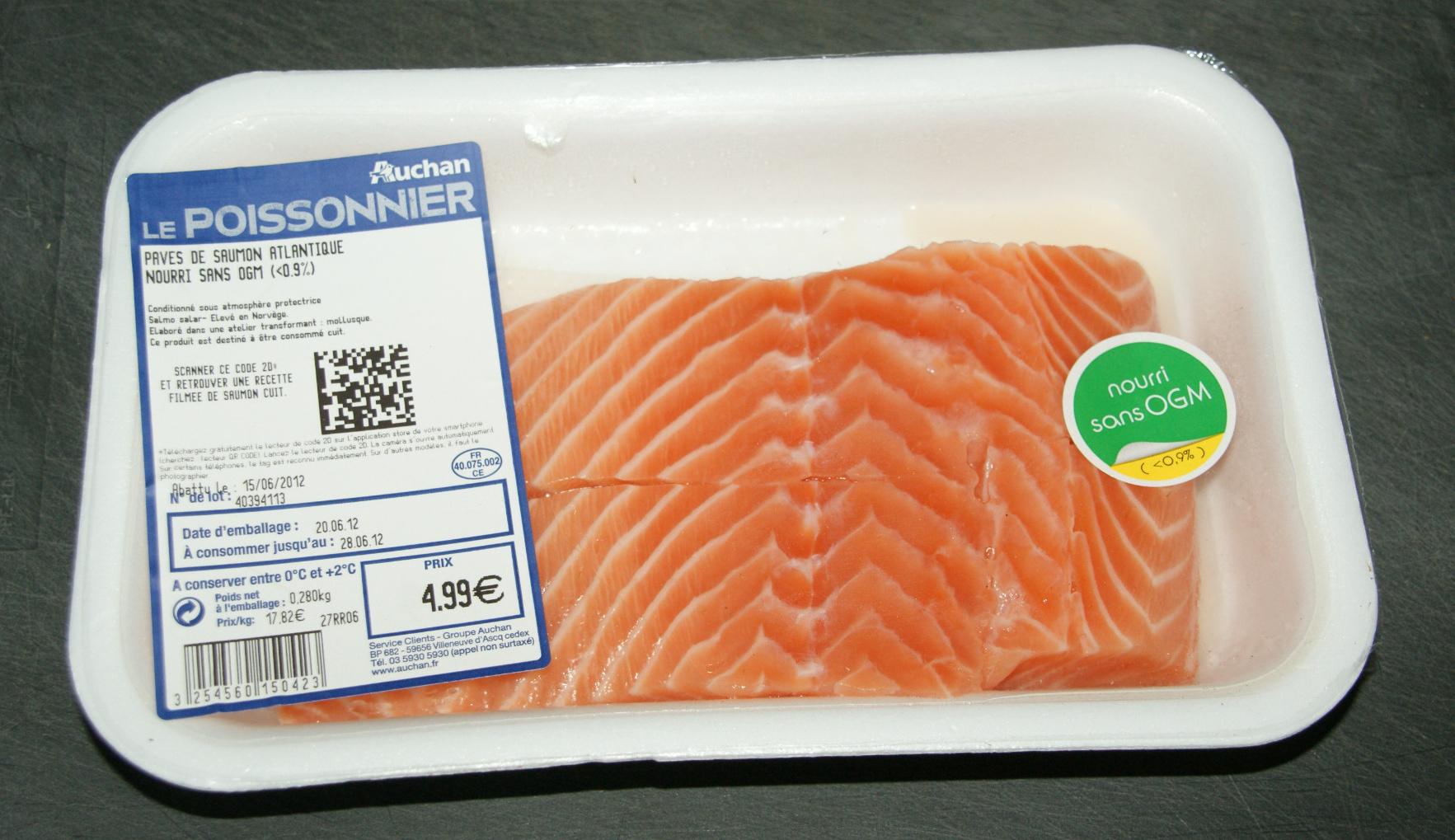 Pavés de saumon Atlantique nourris sans OGM - Product - fr