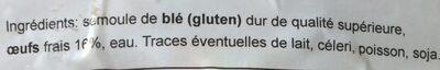 Le Traiteur tagliatelles - Ingrédients - fr