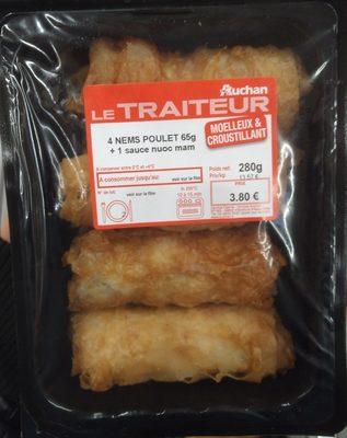 4 nems poulet + 1 sauce nuoc mam - Produit