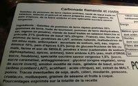 Carbonade flamande et rostis - Ingrediënten - fr