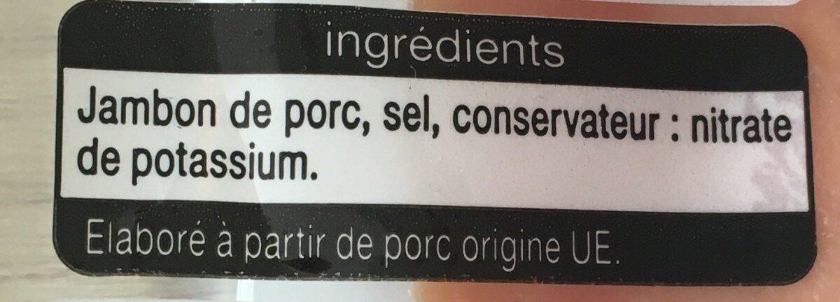 Jambon Italien Tranche x 7 - Ingredients - fr