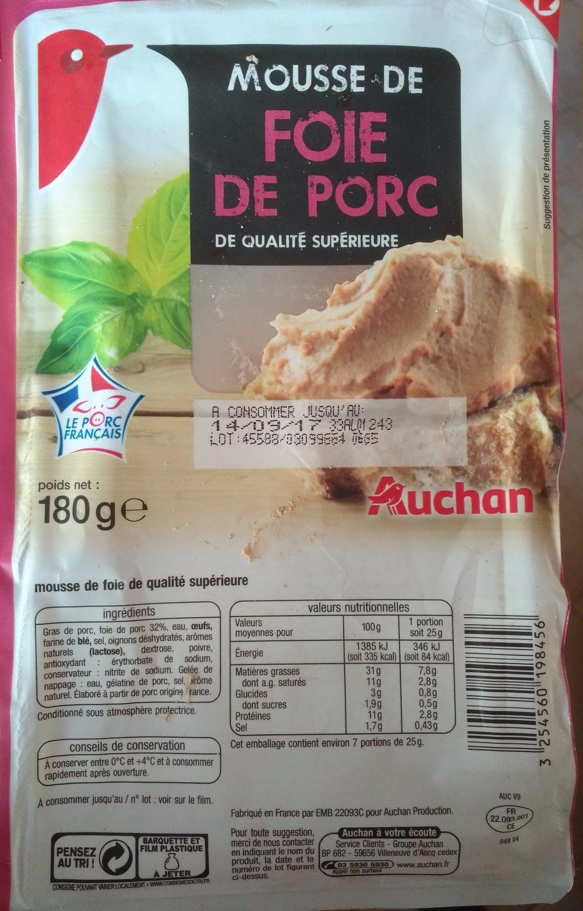 Mousse de foie de porc - Product