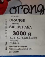Oranges à jus - Ingrédients - fr
