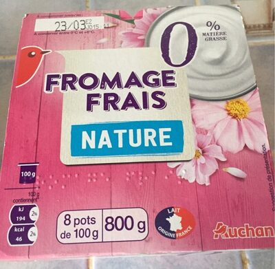 Fromage frais nature 0% - Product