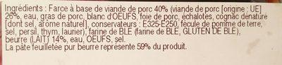 Friand - Ingredients - fr
