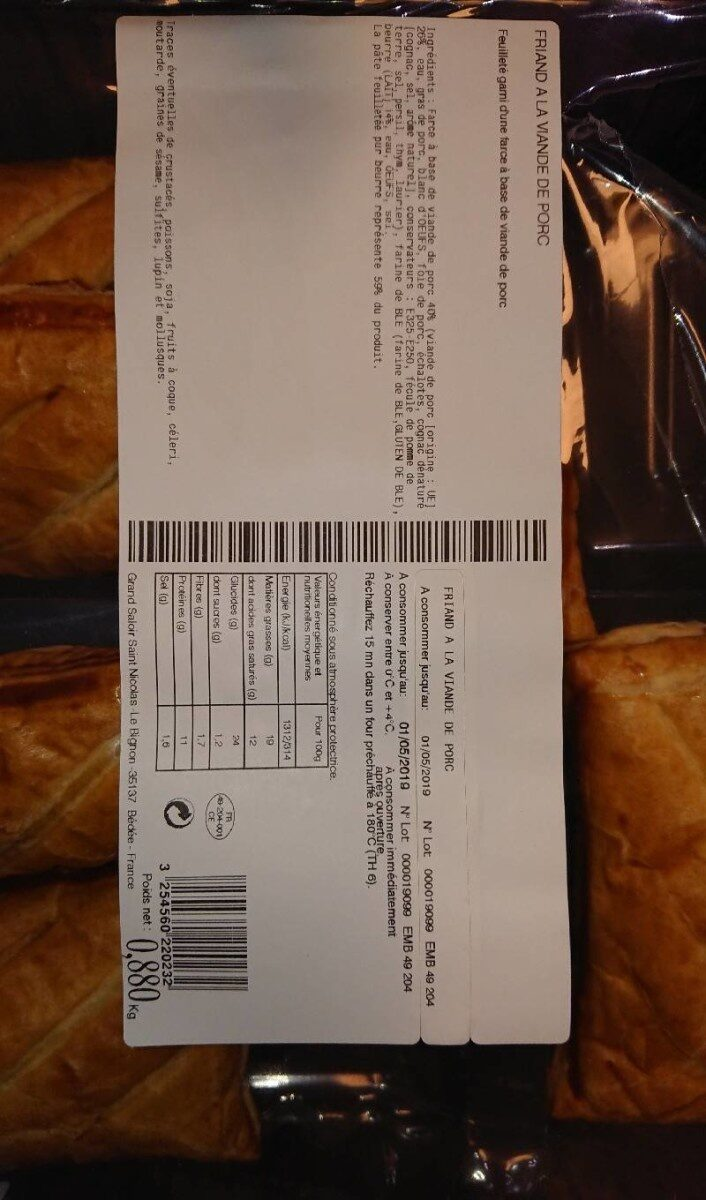 Friand à la viande de porc - Product - fr